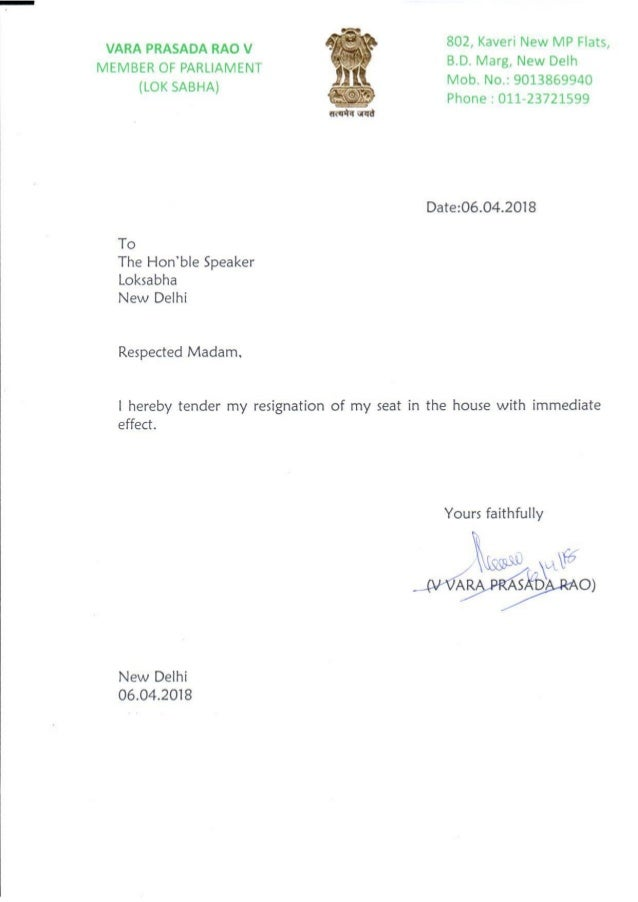 Resignation letters