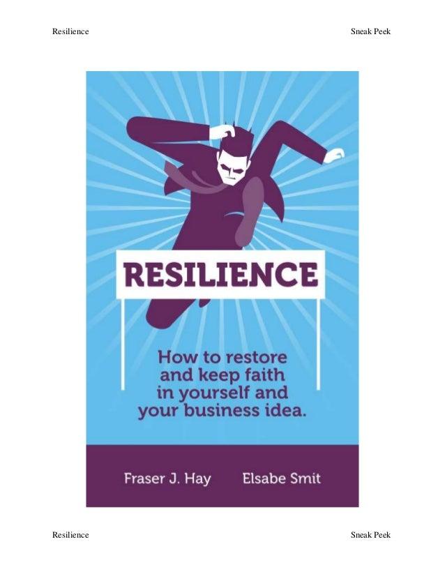 Resilience Sneak Peek Resilience Sneak Peek