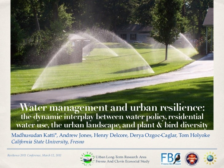 Water management and urban resilience:       the dynamic interplay between water policy, residential      water use, the u...
