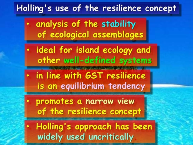 resilience concept analysis With this in mind, decision-makers and policymakers have utilized the concept of  resilience to evaluate the capability of various complex systems to maintain.
