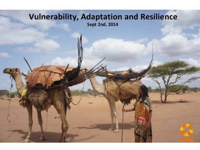 Vulnerability, Adaptation and Resilience  Sept 2nd, 2014