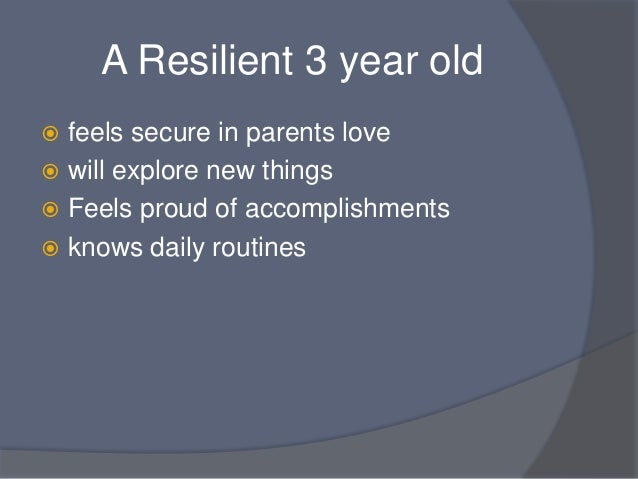 Protective Factors & Resiliency
