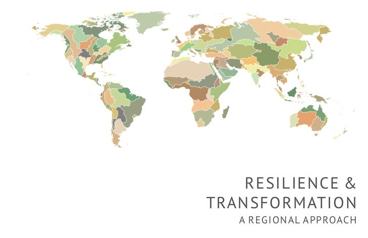 RESILIENCE &TRANSFORMATION   A REGIONAL APPROACH