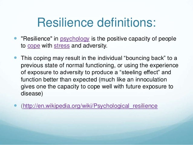 Psychological resilience study