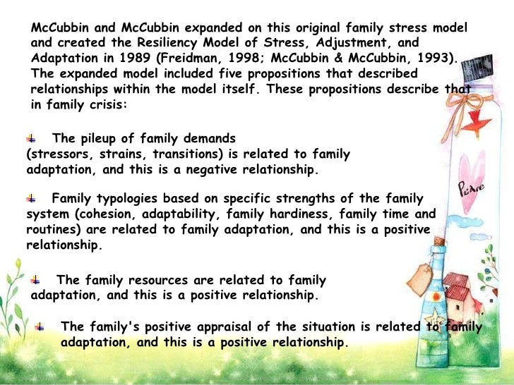"family stress theory Family systems theory establishes a series of ""normal"" and natural interactions within and between families that builds cohesion and stability."