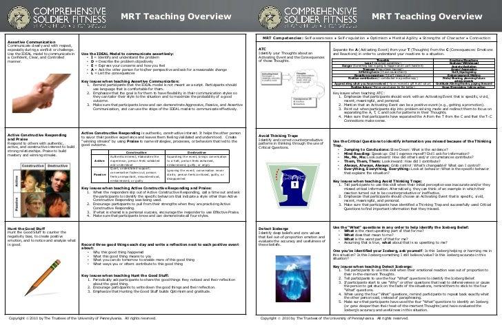 MRT Teaching Overview                                                                                                     ...