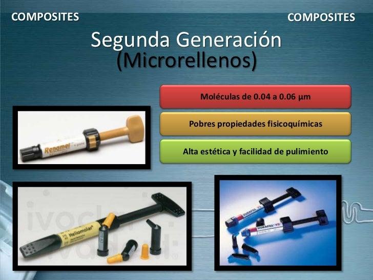 COMPOSITES                                      COMPOSITES             Segunda Generación               (Microrellenos)   ...