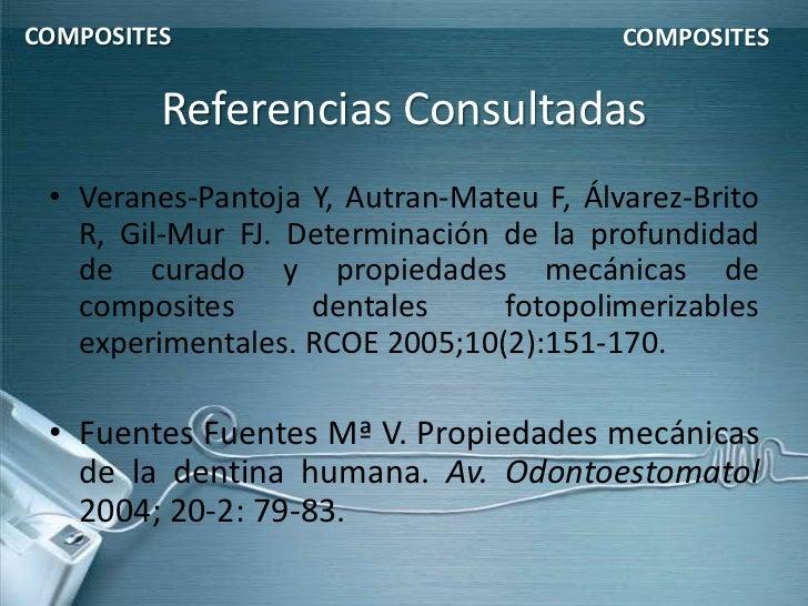COMPOSITES                               COMPOSITES         Referencias Consultadas • Veranes-Pantoja Y, Autran-Mateu F, Á...
