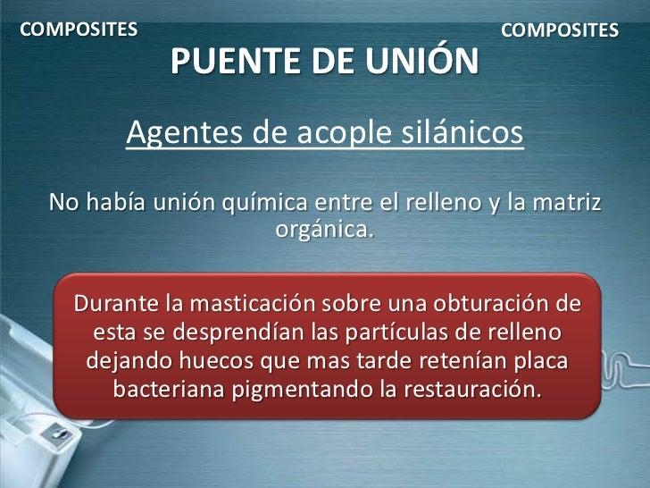 COMPOSITES                                 COMPOSITES             PUENTE DE UNIÓN         Agentes de acople silánicos  No ...
