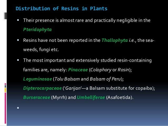 Resin drugs