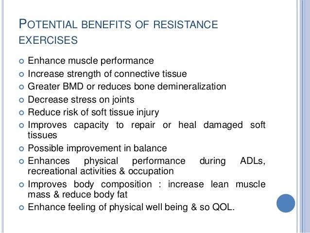 Advantages disadvantages accommodating resistance devices