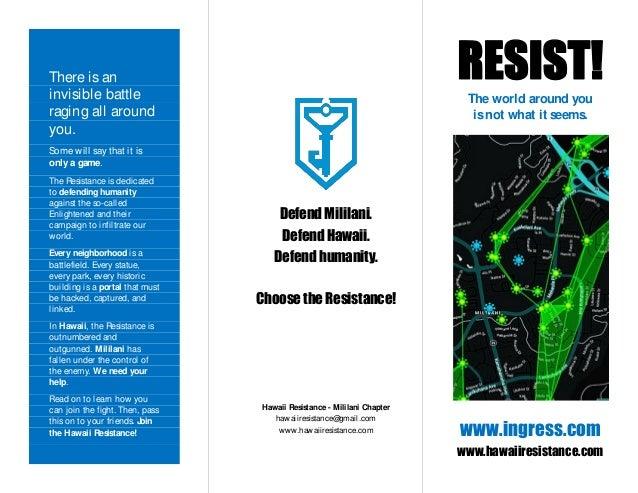 Ingress Resistance Recruiting Brochure - Mililani Version