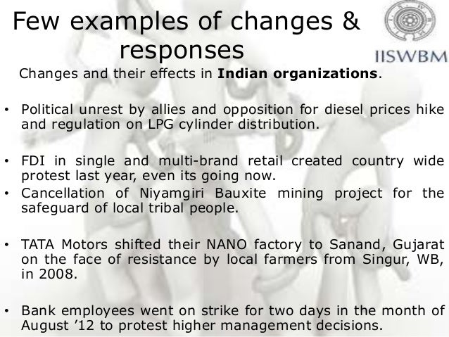 resistance to change example Managing organizational change is the process of planning and implementing change in organizations in such a for example, writing in journal resistance to.