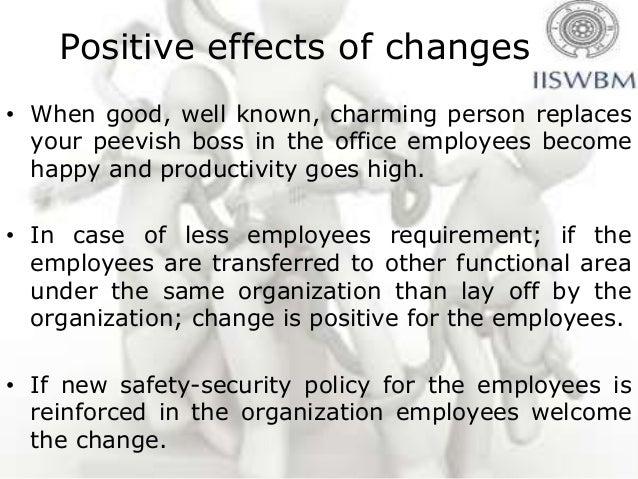 impact of organizational change on employee performance