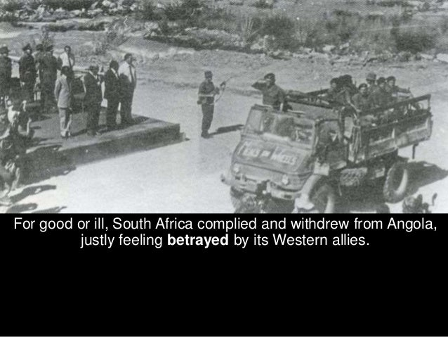Whereas in the past, the SWAPO terrorists had only had Zambia as a base of operations to infiltrate South West Africa, now...