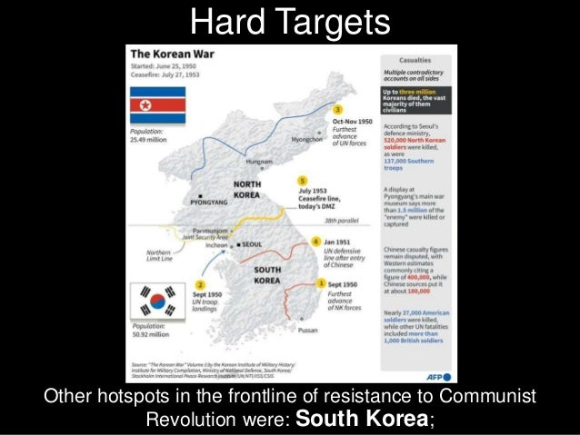 Other hotspots in the frontline of resistance to Communist Revolution were: Taiwan (Free China);