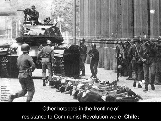 Other hotspots in the frontline of resistance to Communist Revolution were: Afghanistan;