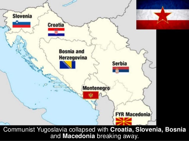 Czechoslovakia split peacefully in the Velvet Divorce between the Czech Republic and the Slovak Republic.