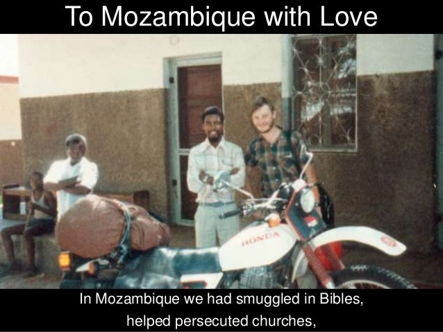 and through books, such as In the Killing Fields of Mozambique. We helped make the plight of the persecuted Church in Moza...