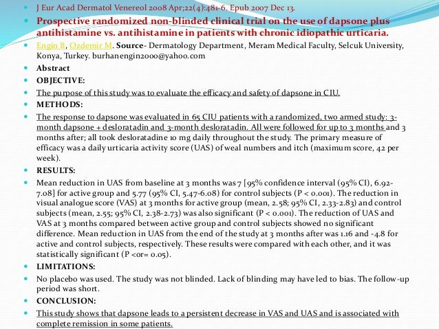  Acta Derm Venereol 2008; 88: 247–251, December 5, 2007.  Treatment of Chronic Urticaria with Narrowband Ultraviolet B P...