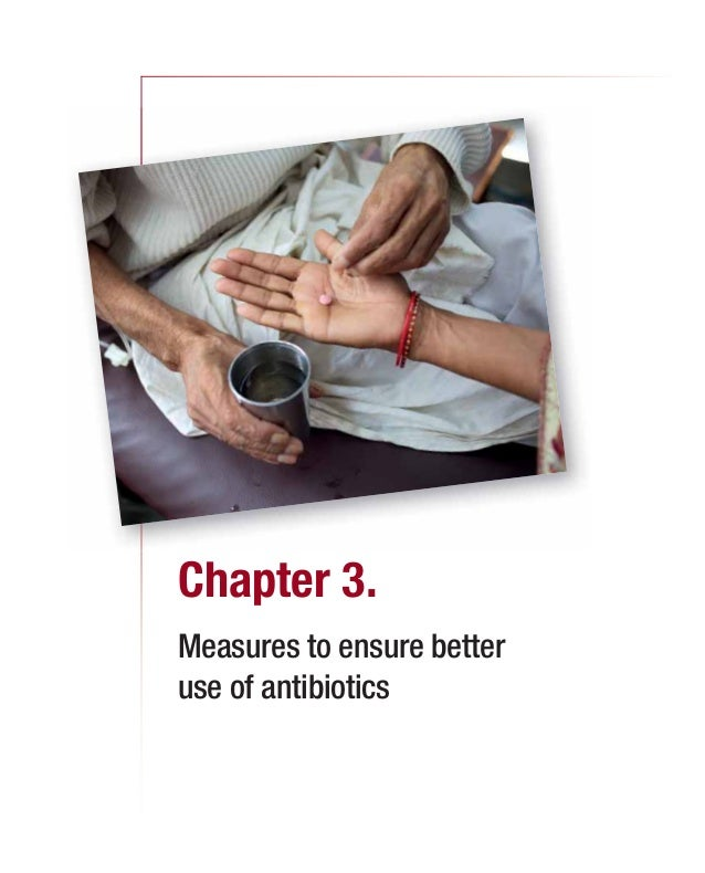 Chapter 3. Measures to ensure better use of antibiotics