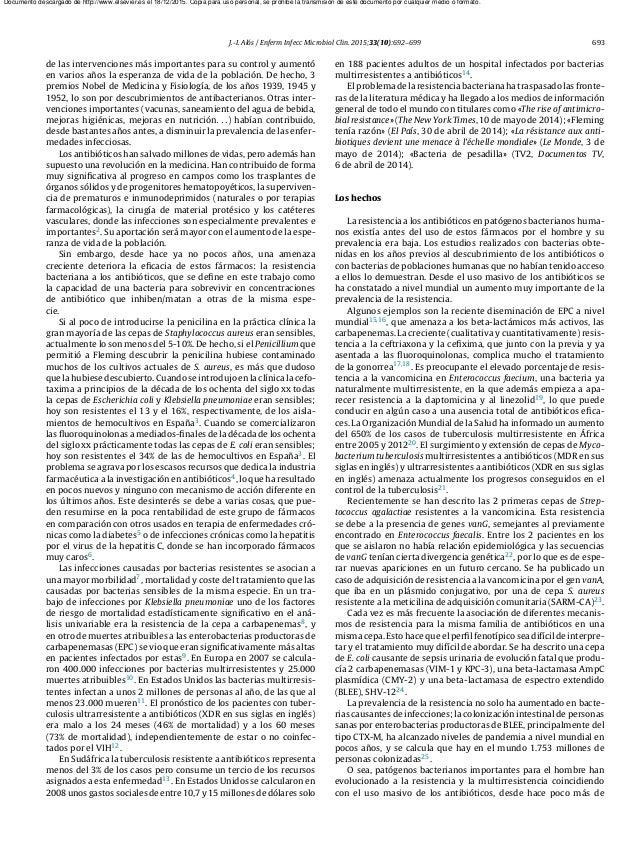 J.-I. Alós / Enferm Infecc Microbiol Clin. 2015;33(10):692–699 693 de las intervenciones más importantes para su control y...