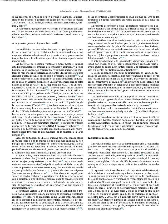 J.-I. Alós / Enferm Infecc Microbiol Clin. 2015;33(10):692–699 695 se ha descrito, en SARM de origen porcino y humano, la ...