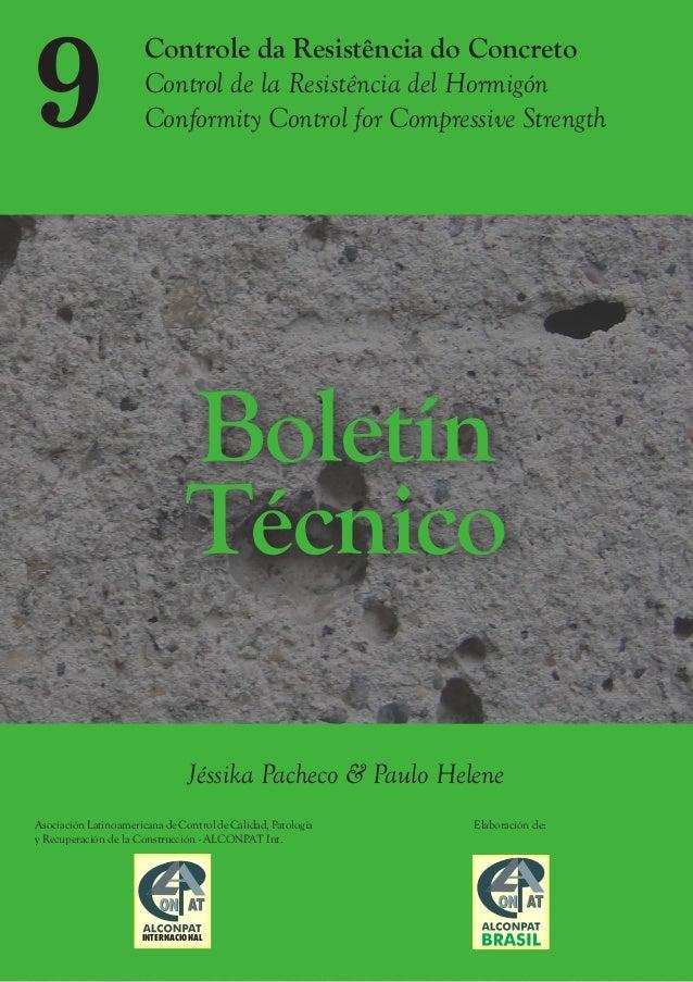 Controle da Resistência do Concreto Control de la Resistência del Hormigón Conformity Control for Compressive Strength Bol...
