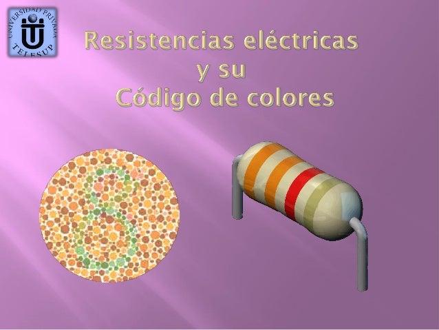 Contenidos: Definición  de resistencia eléctrica.  Unidad  de medida  Bandas  de color en la resistencia  El  código ...