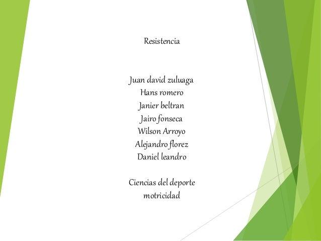 Resistencia  Juan david zuluaga  Hans romero  Janier beltran  Jairo fonseca  Wilson Arroyo  Alejandro florez  Daniel leand...