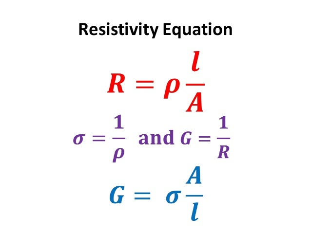 how to find resisitivity formula