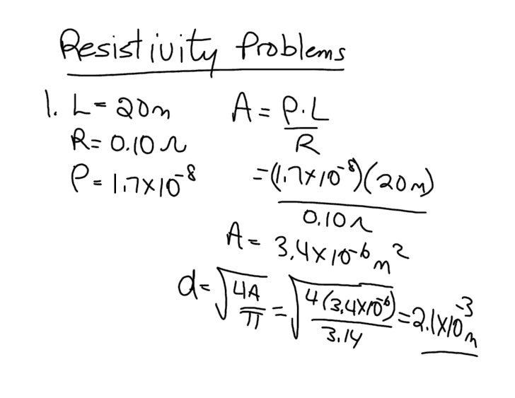 Resistivity Problems