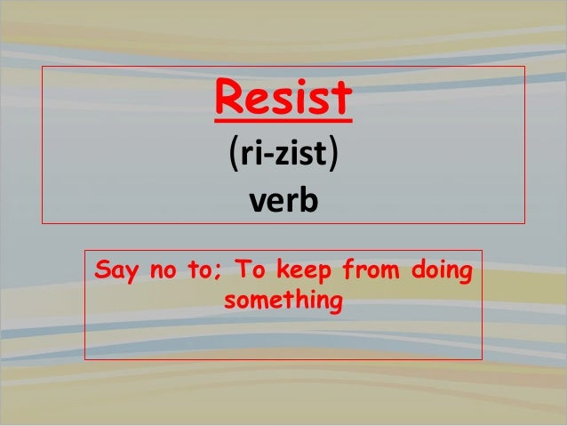 meaning of resist by mariam muhamad