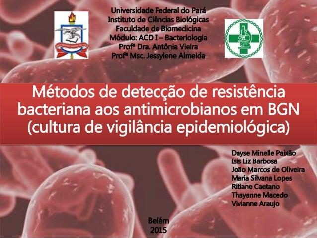 Universidade Federal do Pará Instituto de Ciências Biológicas Faculdade de Biomedicina Módulo: ACD I – Bacteriologia Profª...