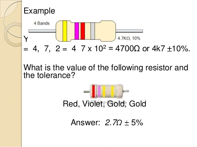 Resistor Color Codes