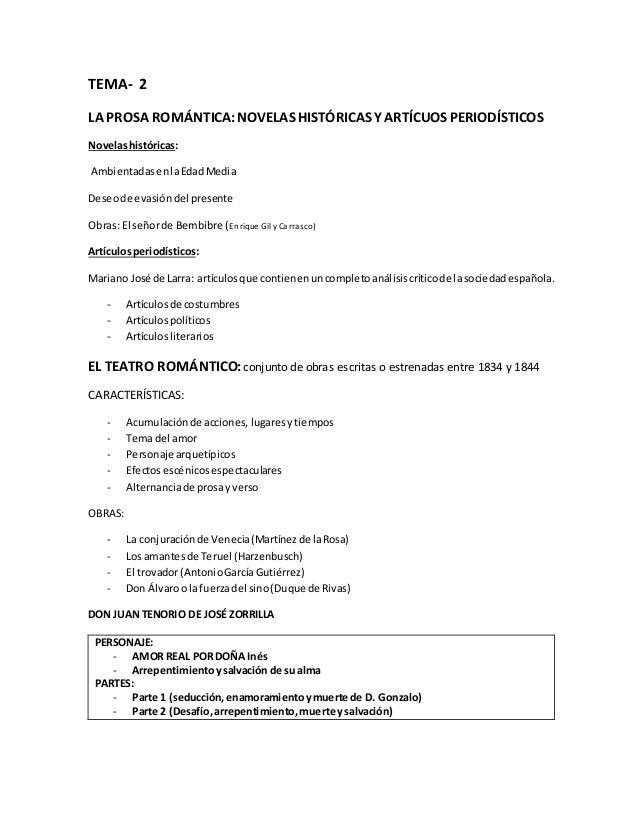 TEMA- 2  LA PROSA ROMÁNTICA: NOVELAS HISTÓRICAS Y ARTÍCUOS PERIODÍSTICOS  Novelas históricas:  Ambientadas en la Edad Medi...
