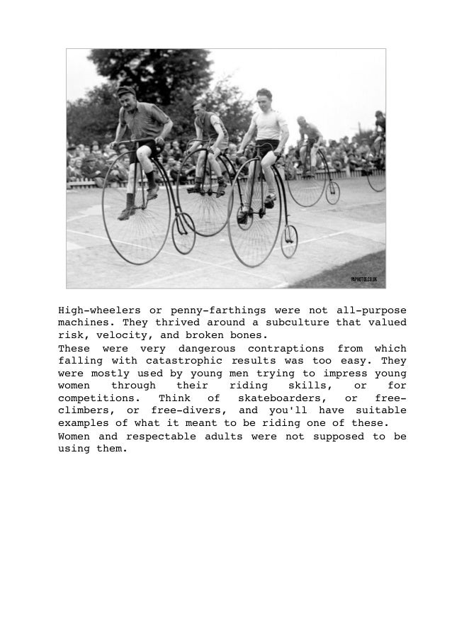 When cultural and social norms started to change aroundthebicycle,themostbizarresolutionsemerged to allow...