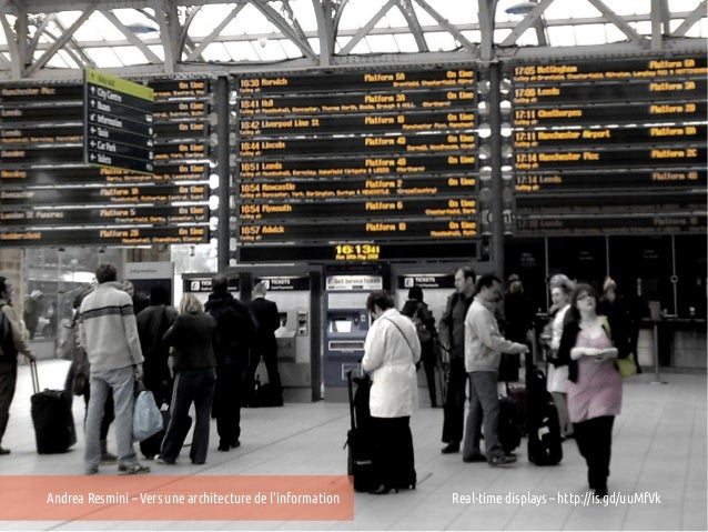 Andrea Resmini – Vers une architecture de linformation   Real-time displays – http://is.gd/uuMfVk