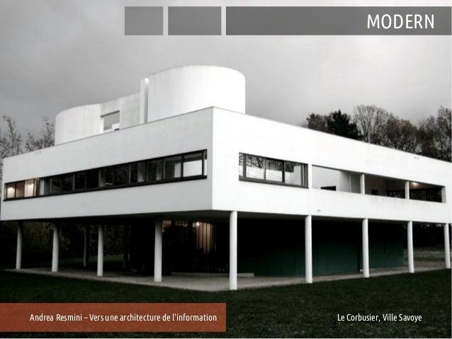 MODERNAndrea Resmini – Vers une architecture de linformation   25e Entretiens du Centre Jacques Cartier, Lyon             ...