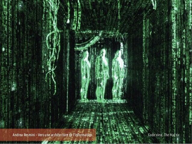 Andrea Resmini – Vers une architecture de linformation   25e Entretiens du Centre view, The Matrix Lyon                   ...