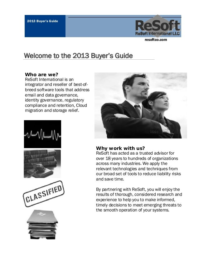 2013 Buyer's Guide                                                                 resoftco.comWelcome to the 2013 Buyer's...