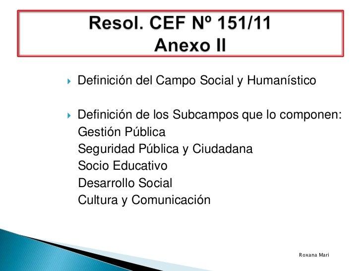    Definición del Campo Social y Humanístico   Definición de los Subcampos que lo componen:    Gestión Pública    Seguri...