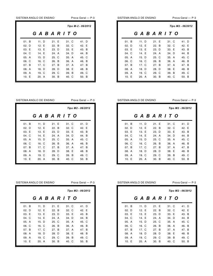 SISTEMA ANGLO DE ENSINO                  Prova Geral — P-3   SISTEMA ANGLO DE ENSINO                  Prova Geral — P-3   ...