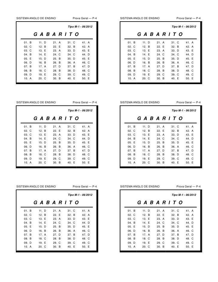 SISTEMA ANGLO DE ENSINO                  Prova Geral — P-4   SISTEMA ANGLO DE ENSINO                  Prova Geral — P-4   ...