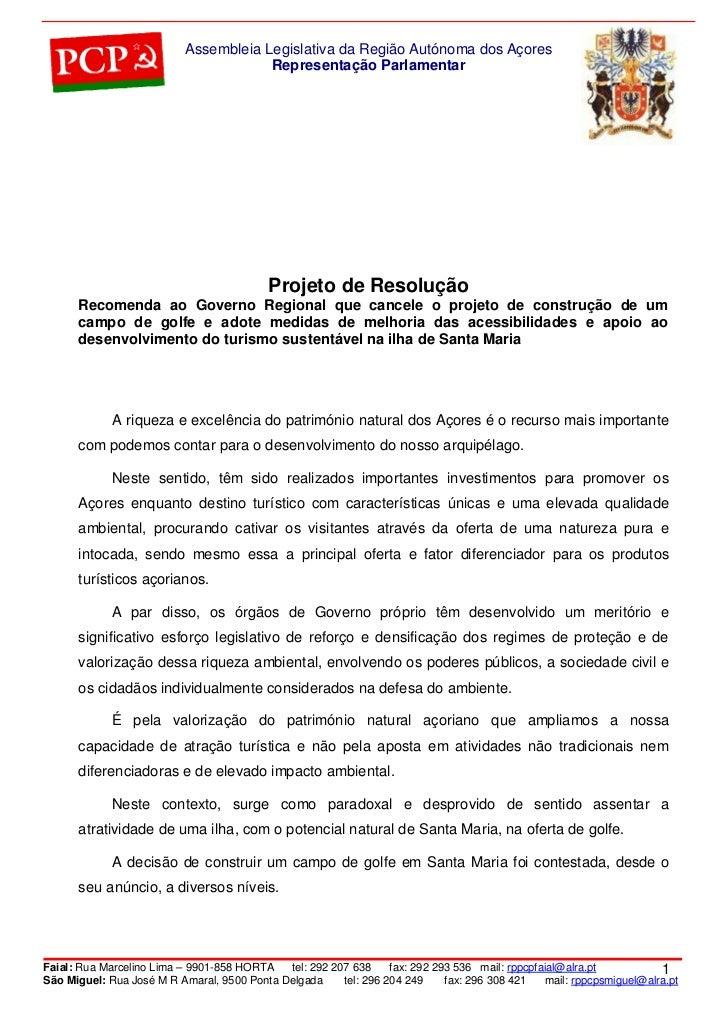 Assembleia Legislativa da Região Autónoma dos Açores                                       Representação Parlamentar      ...