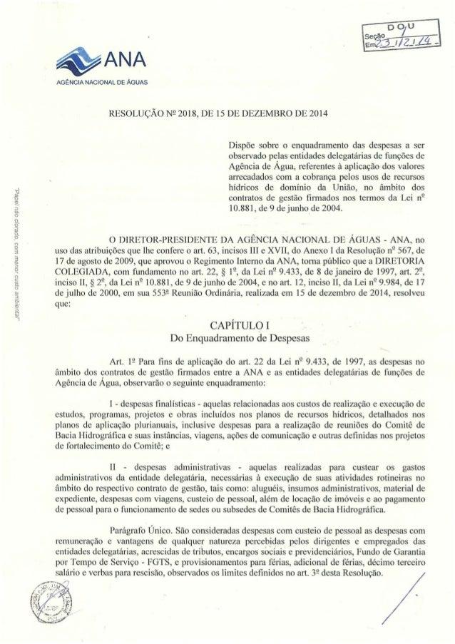 _IDIUO/ (ju/ B 013/757 . IOL/ GUJ LUOQ 'OpGJO/ O OQL/  /SdQGQ        g1/ ANA  AGENCIA NACIONAL DE ÁGUAS RESOLUÇÃO N?  2018...