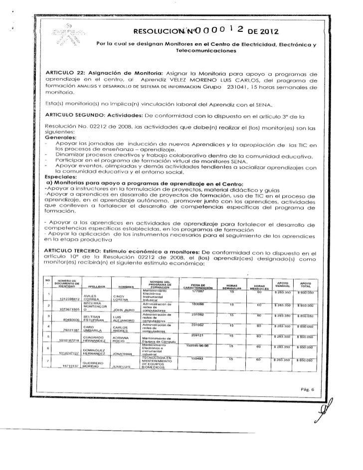 Resolución 12 designación de monitores 2da. parte.