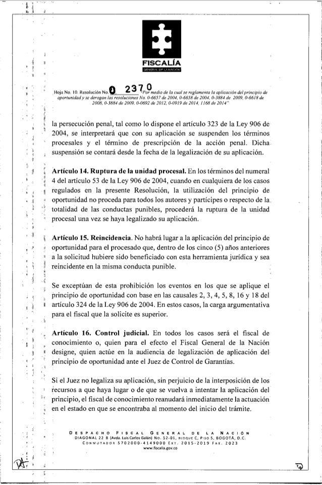 Resolución 2370 16 (por medio de la cual se reglamenta la aplicación …