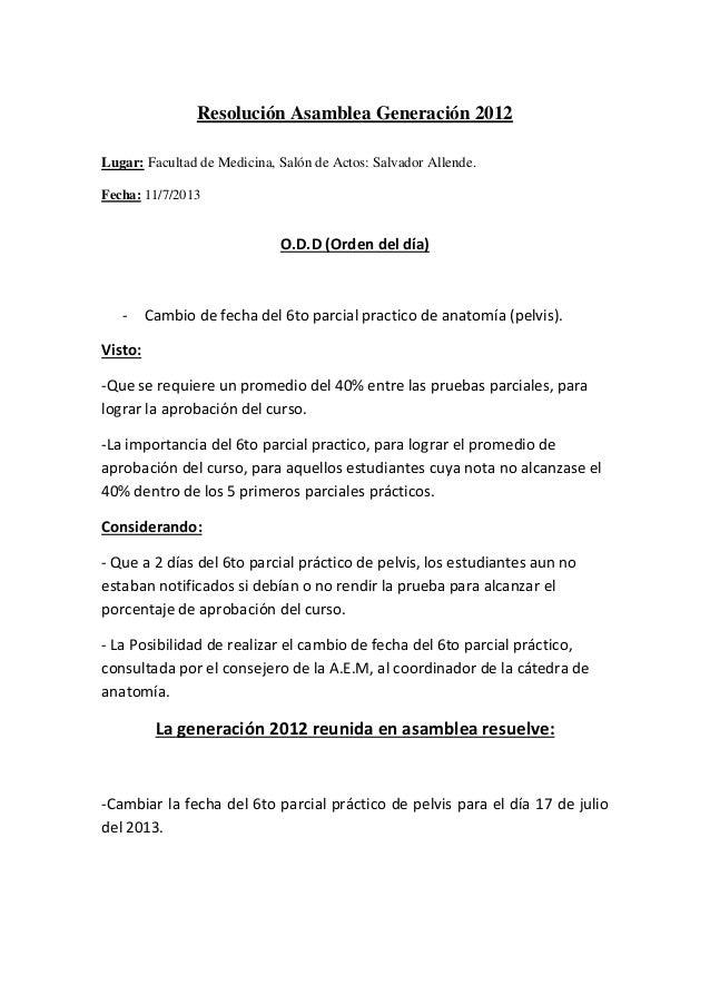 Resolución asamblea generación 2012 anatomia 6to parcial pelvis