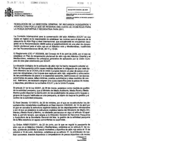 Resolución atun dgrpya 2011